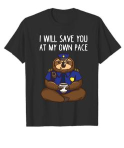 Police Officer Sloth Funny Kids Gifts For Policeman Boys