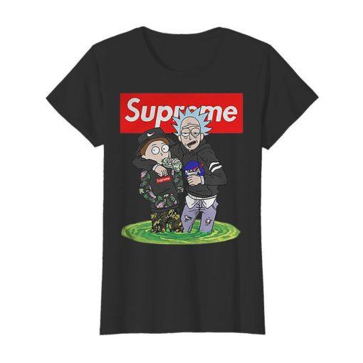 Rick and Morty mashup Nike Supreme NASA