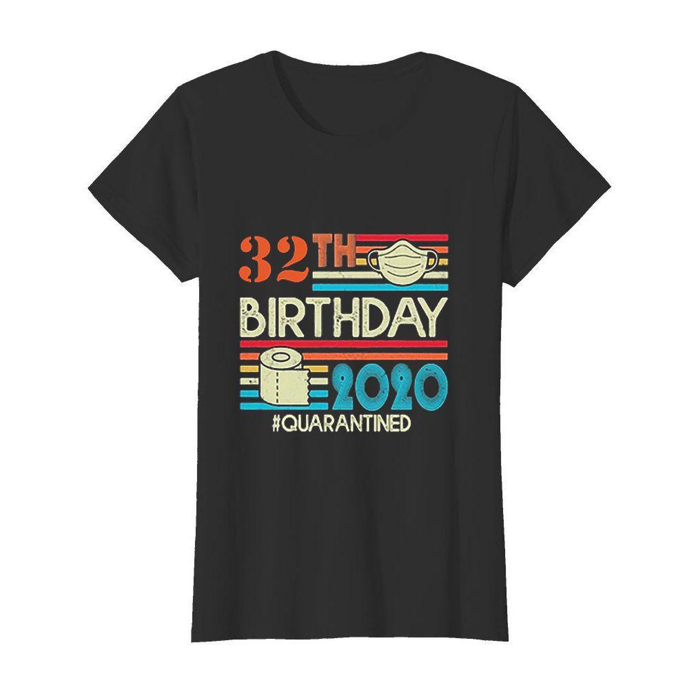 32th Birthday mask toilet paper 2020 #Quarantined Coronavirus