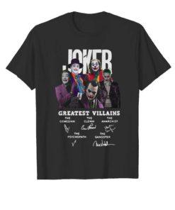 Actors Joker greatest villains signatures