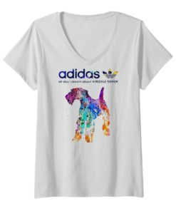 Adidas all day I dream about Airedale Terrier colors shirt 1