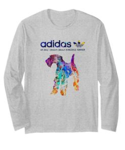 Adidas all day I dream about Airedale Terrier colors shirt 2