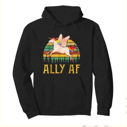Ally AF Gay Pride Month LGBT Rainbow Unicorn