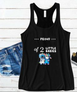 Baby Stitch and unicorn proud of 2 little babies s