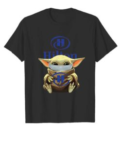 Baby Yoda Mask Hug Hilton