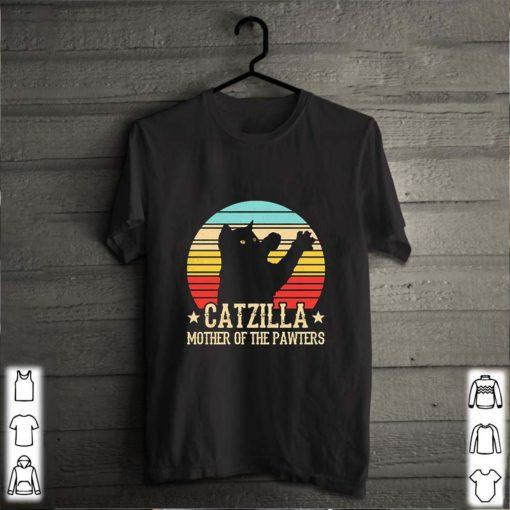 Catzilla mother of the pawters vintage cat parody Godzilla