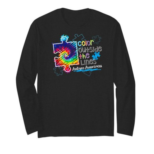 Color outside the lines autism awareness