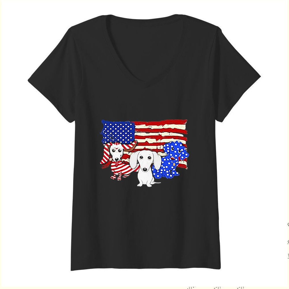Dachshund American flag 4th of july independence day