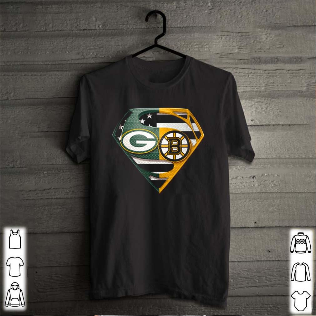 Green Bay Packers and Boston Bruins Superman logo s
