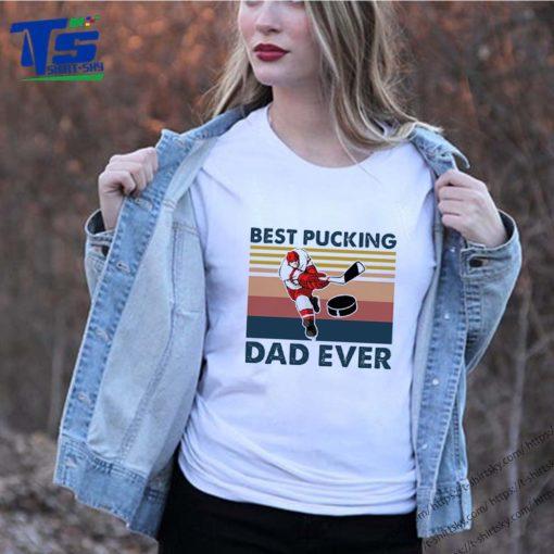 Hokey best pucking dad ever vintage