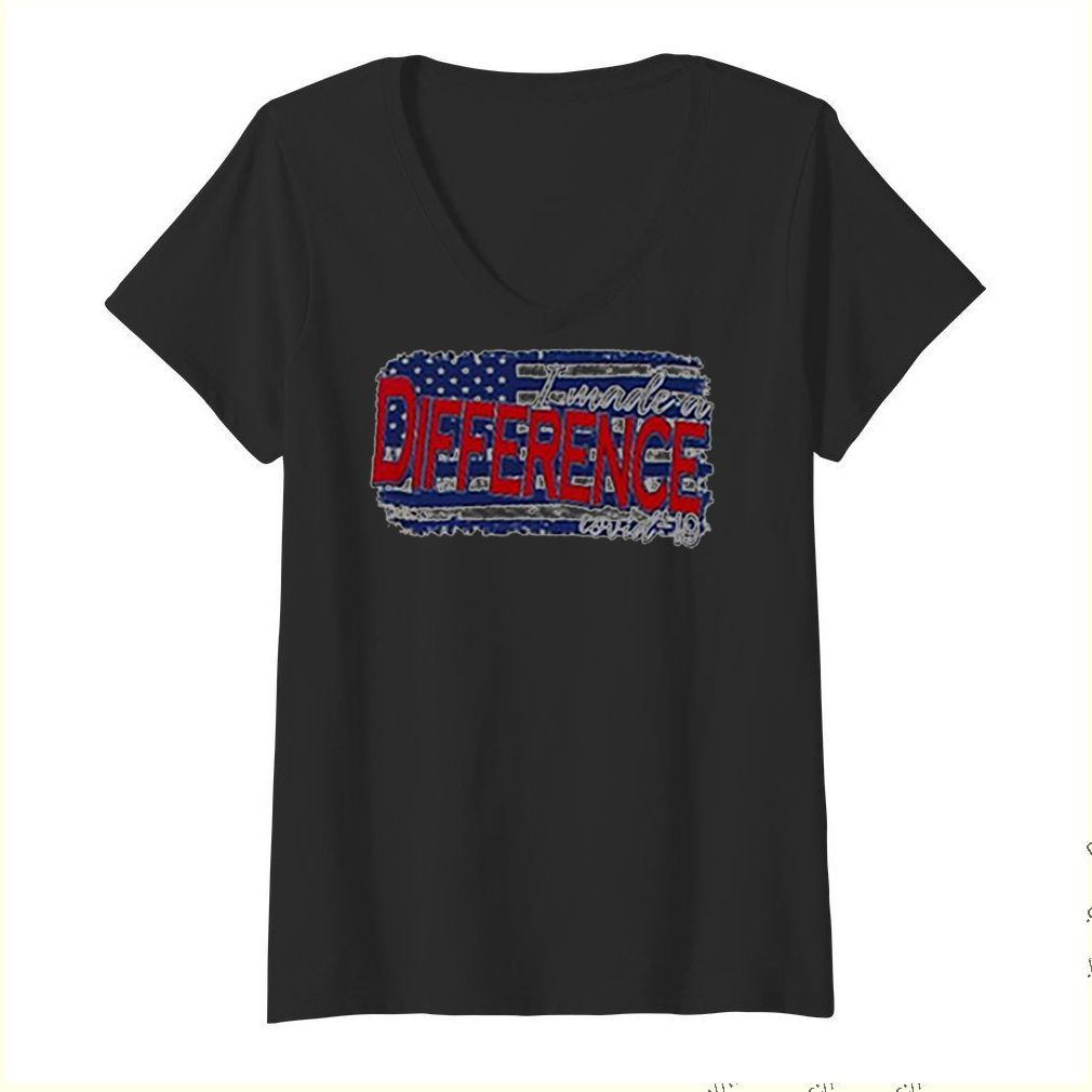 I wade a difference Covid 19 American flag