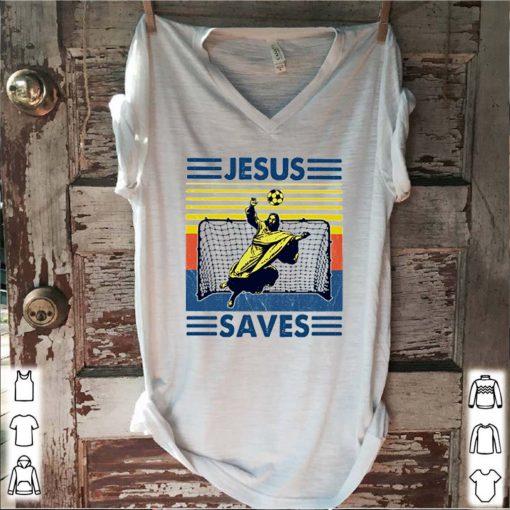 Jesus saves Soccer vintage s