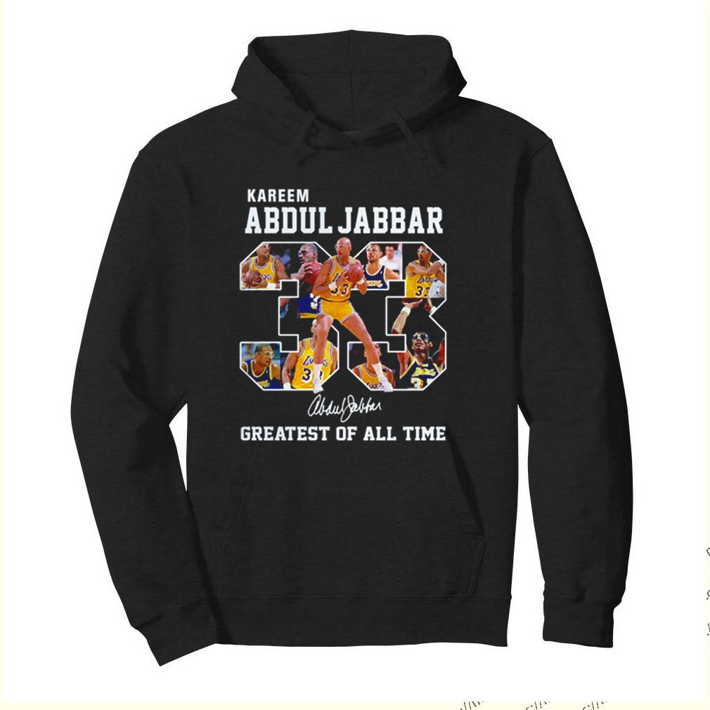 Kareem Abdul Jabbar 33 greatest of all time signature