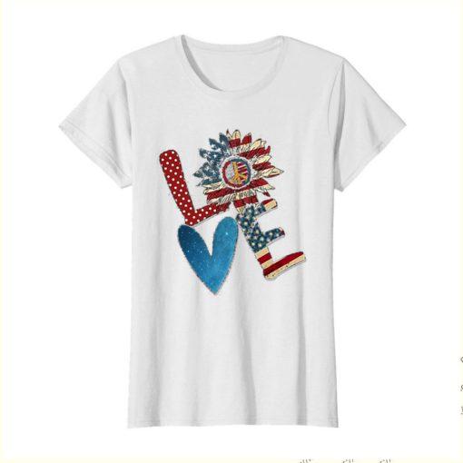 Love Sunflower American Flag