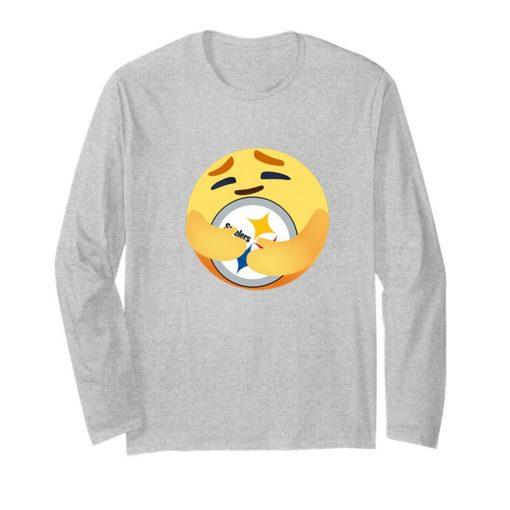 Love The Pittsburgh Steelers Love Hug Care Emoji NFL