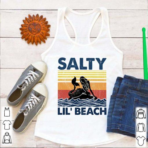 Mermaid salty lil' beach retro vintage