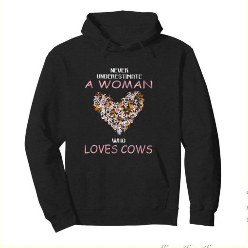 Never Underestimate A Woman Who Loves Cows shirt 4