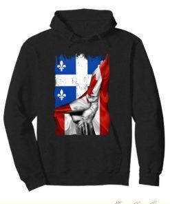 Quebec flag inside Canada flag shirt 4