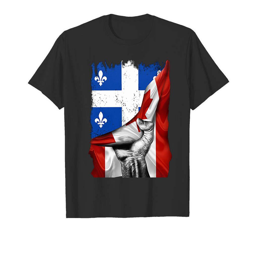 Quebec flag inside Canada flag shirt 5