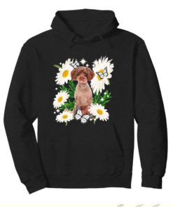 Schnoodle Dog Daisy flower Classic T-
