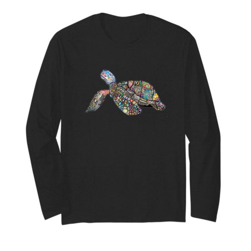 Sea Turtle Animal Floral Chromatic Colorful