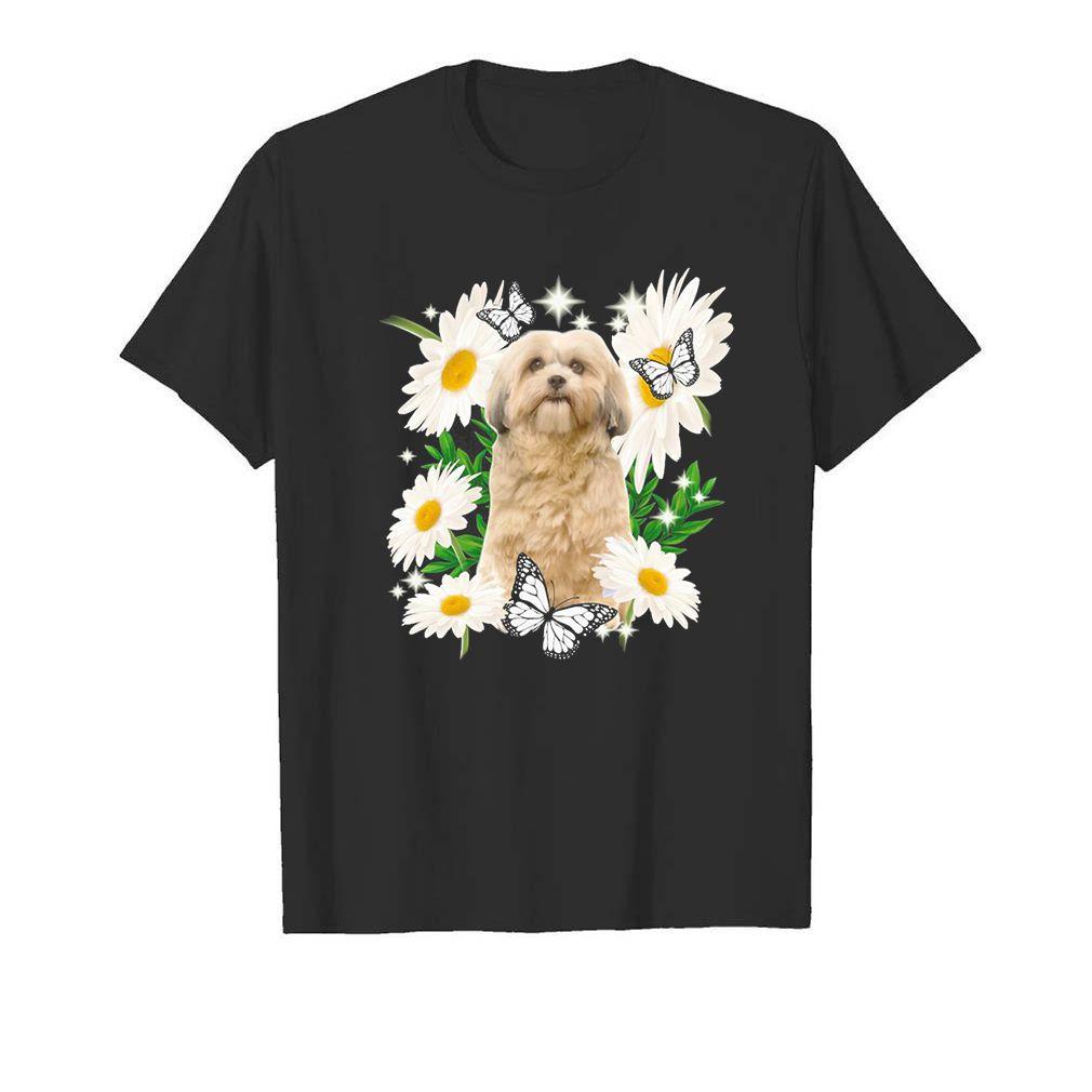 Shih Tzu Dog Daisy flower Classic