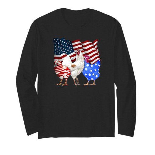 Three Chicken American Flag