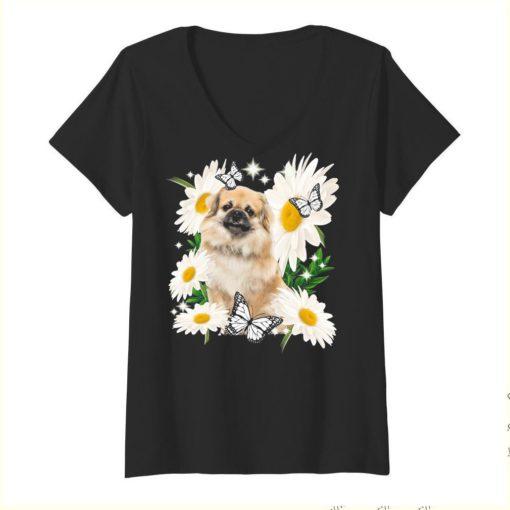 Tibetan Spaniel Daisy flower Classic T-