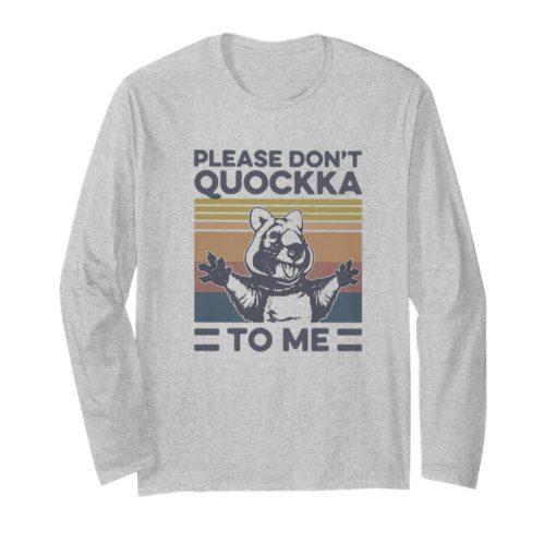 Vintage Please Don't Quockka To Me Animal