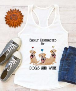 Labrador Easily Distracted By Dogs And Wine Pug American Flag