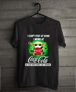 Baby Yoda Mask I Can't Stay At Home I Work At Coca Cola Coronavirus