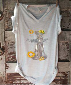 Elephants Mom And Baby Sunflower Water Mirror shirt 1