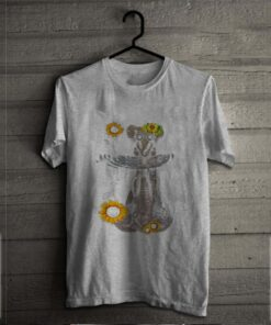 Elephants Mom And Baby Sunflower Water Mirror shirt 2