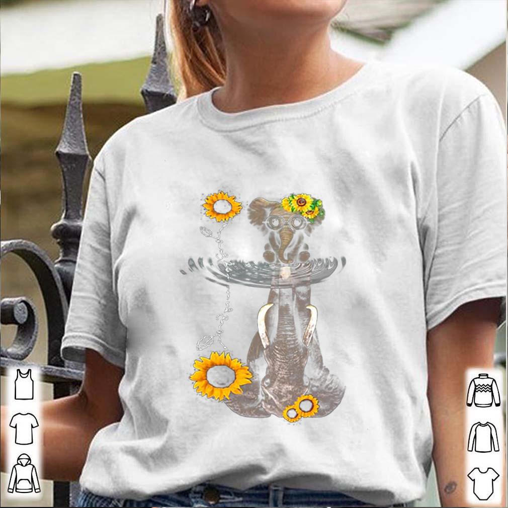 Elephants Mom And Baby Sunflower Water Mirror shirt 3
