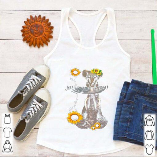 Elephants Mom And Baby Sunflower Water Mirror shirt 4