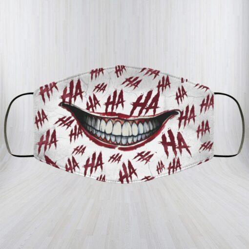 Ha Ha Ha Washable Reusable Custom – Printed Cloth Face Mask Cover – Joker Face Mask
