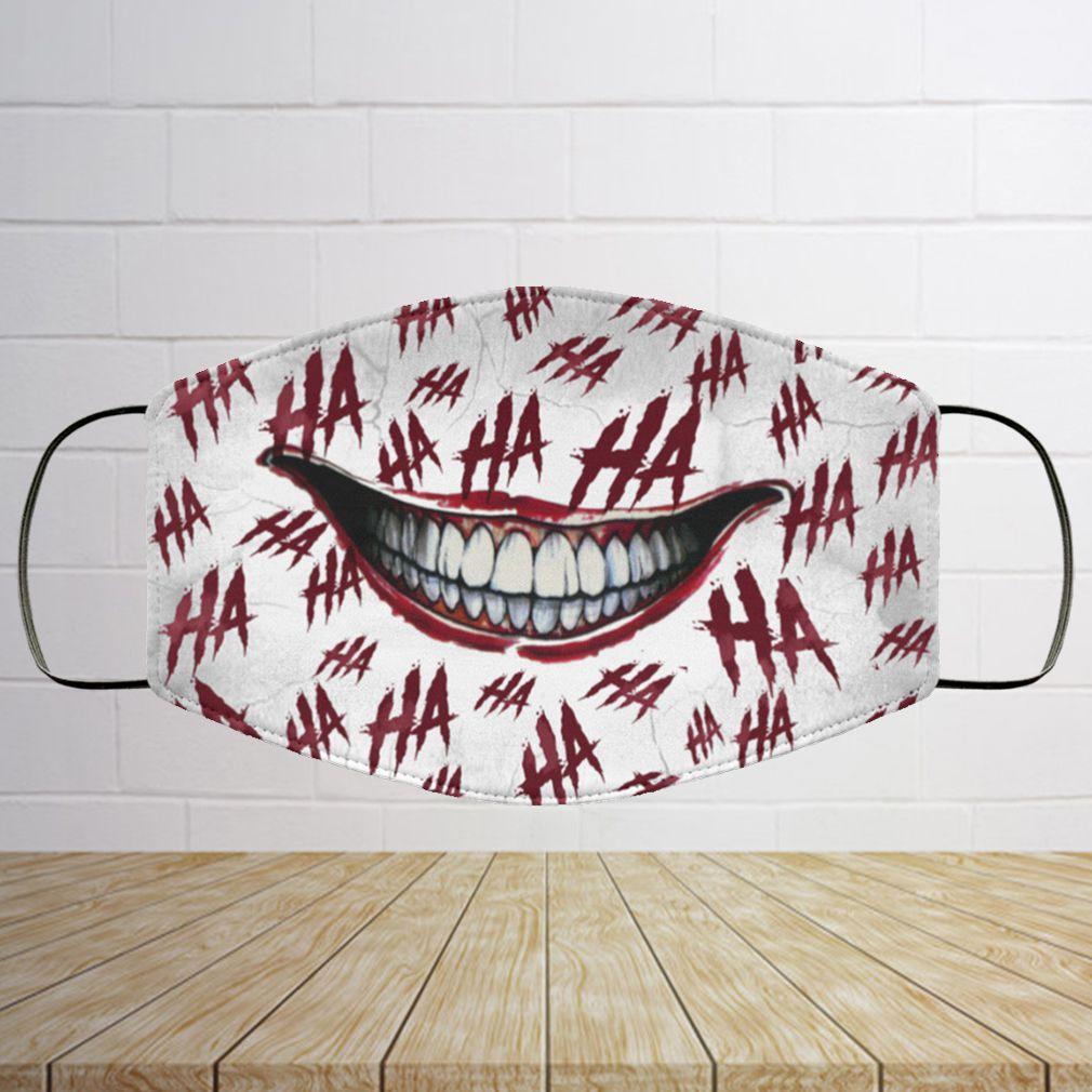 Ha Ha Ha Washable Reusable Custom – Printed Cloth Face Mask Cover – Joker Face Mask 7
