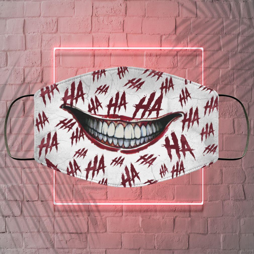 Ha Ha Ha Washable Reusable Custom – Printed Cloth Face Mask Cover – Joker Face Mask 5