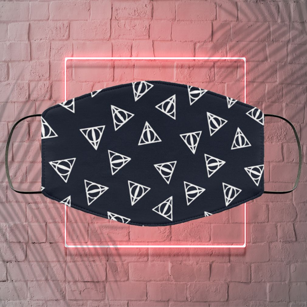Harry Potter Deathly Hallows Pattern Face Mask