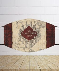 Harry Potter The Marauder's Map Face Mask