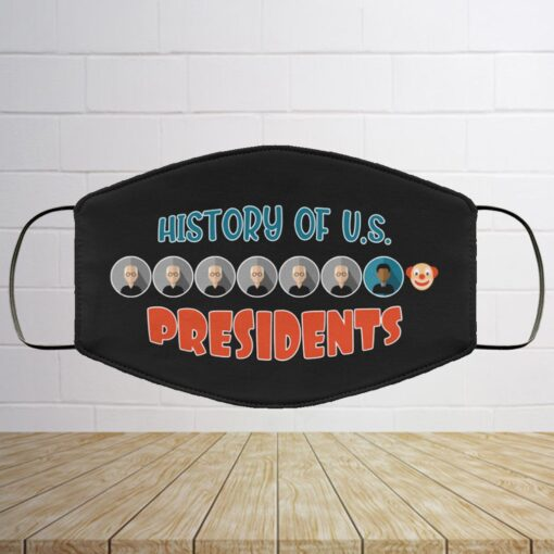 History Of US Presidents Trump Clown Washable Reusable Custom – Funny Trump Printed Cloth Face Mask Cover