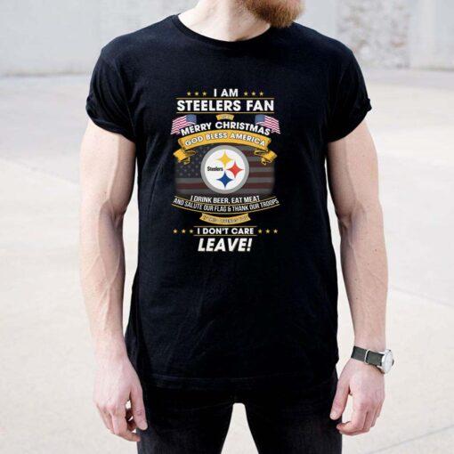 I Am Steelers Fan I Say Merry Christmas God Bless America