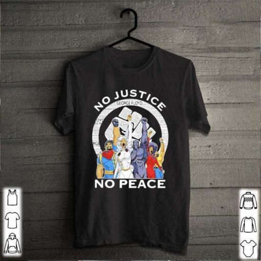 Marvel heroes no justice no peace black lives matter