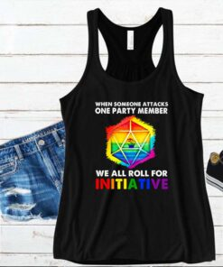 When someone attacks one party member we all roll for initiative LGBT D20 Dice