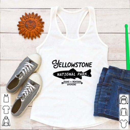 Yellowstone National Park Retro Trout Fishing Graphic