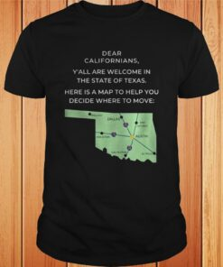 Dear Californians Yall are welcome in the State Of Texas Here is a map to help you decide where to Copy