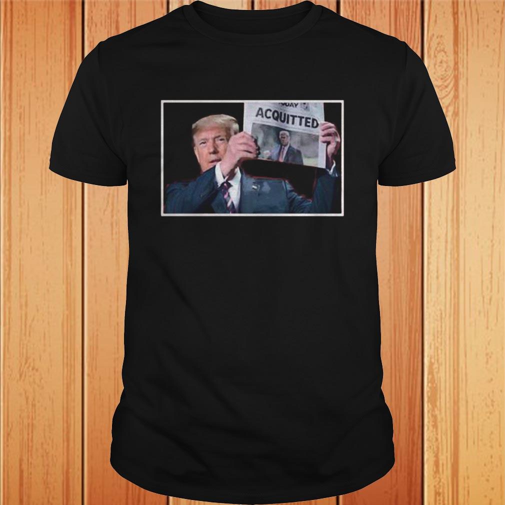 Donald trump newspaper acquitted shirt 27