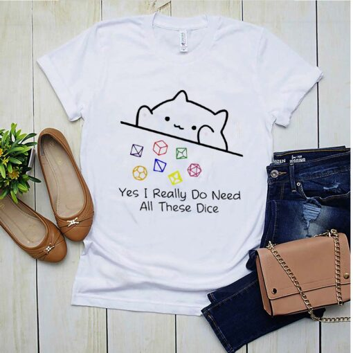 Dungeon Meowster yes I really do need all these dice shirt 2