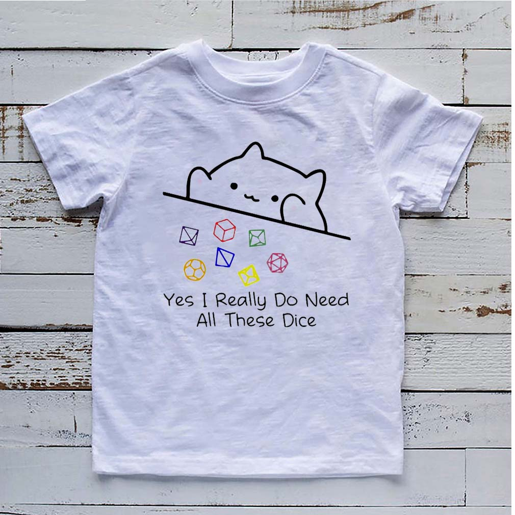 Dungeon Meowster yes I really do need all these dice shirt 6