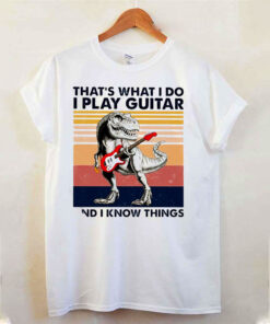dinosaur that s what i do i play guitar and i know things vintag 11